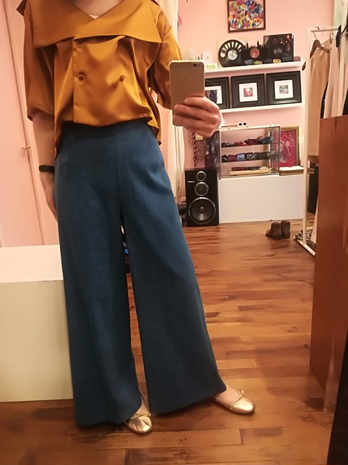 Denim wide leg pants サイズM