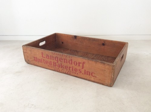 1930's Wooden Bread Case【Langendorf Bakeries】