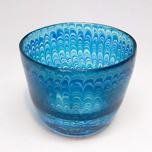 【core0007】小暮紀一作・コアガラス冷酒杯 Norikazu Kogure Core-formed glass cup for cold Sake