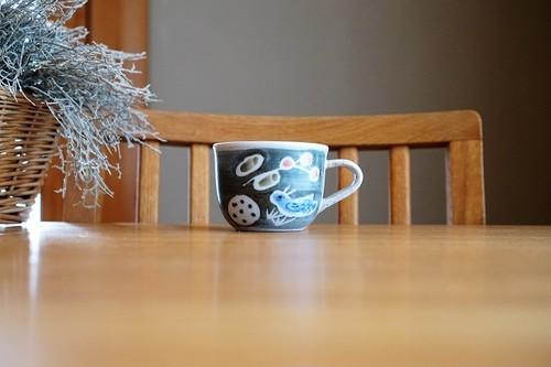 砥部焼/「青い鳥」コーヒーカップ/森陶房kaori