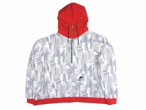 H/Z COLLAGE HOODIE GRAY×RED 18AW-FS-24