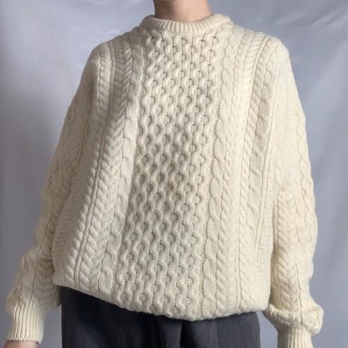 Used Fisherman Knit _03(フィッシャーマン/アラン ニット)