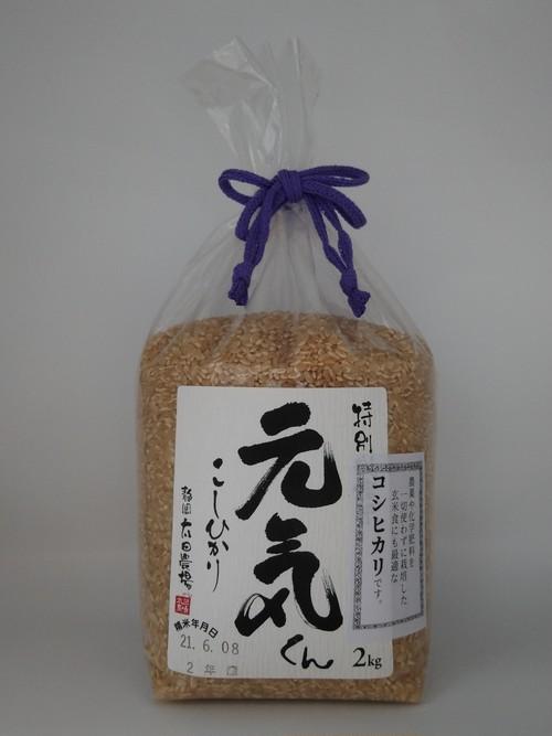 【玄米】静岡県産 特別栽培コシヒカリ「元気くん」