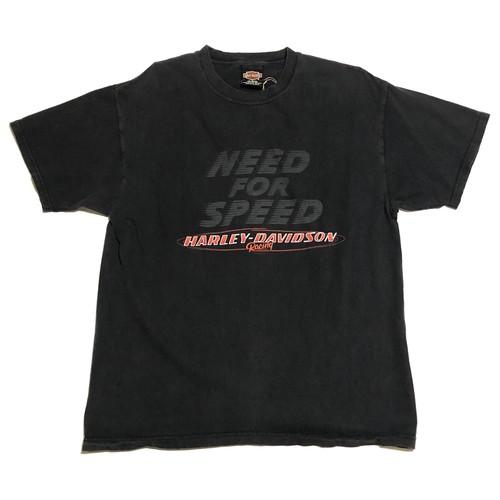 ハーレーダビッドソン ヴィンテージ Tシャツ 黒 ハーレーT 表記Lサイズ NEED FOR SPEED