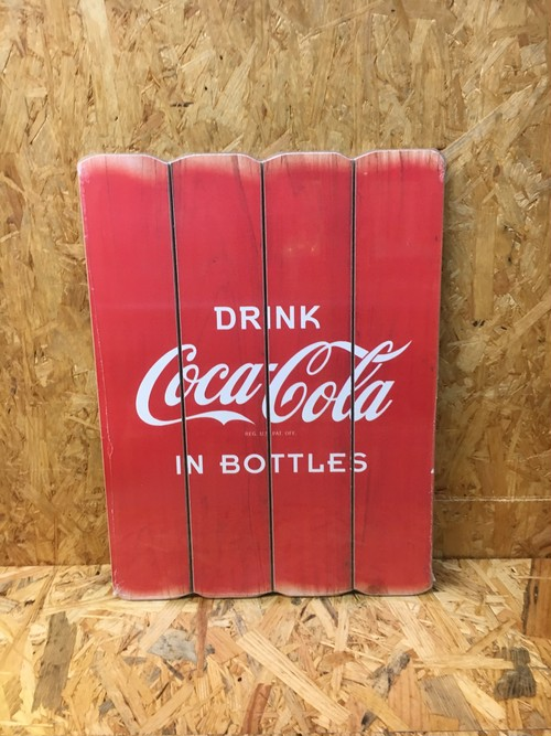 COCA COLA WOODSIGN コカコーラ サインボード