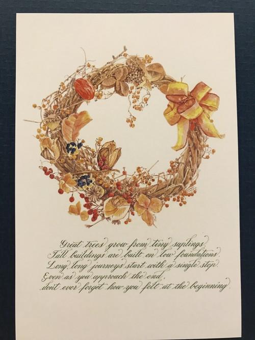 ポストカード  Wreath5