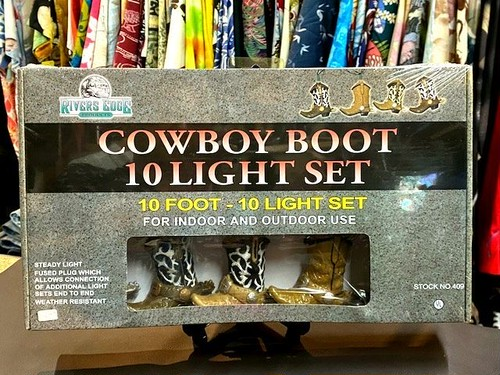 COWBOY BOOT 10FOOT-10LIGHT SET/RIVERS EDGE PRODUCTS