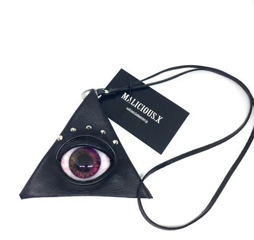 eye  triangle coin case / violet marble