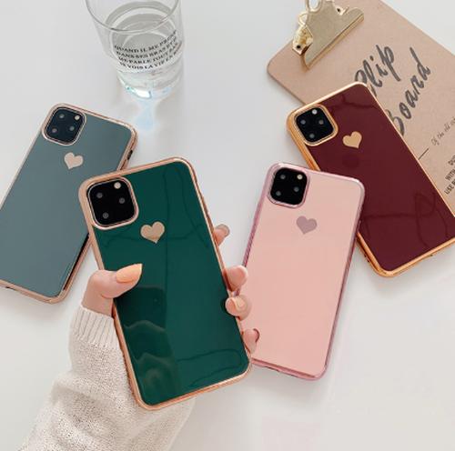 iPhone11 iPhone11Pro iPhone11ProMax【お取り寄せ商品、送料無料】4カラー ハート iPhoneケース