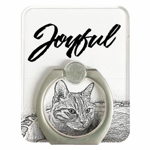 JOYFUL   Staring Cat   スマホリング