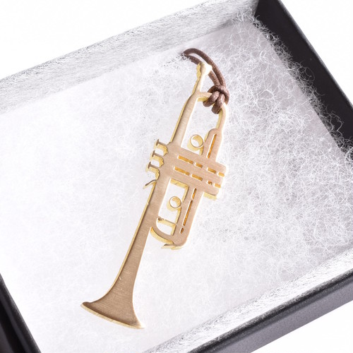 トランペット C管 2.0㎜(M) 真鍮楽器チャーム