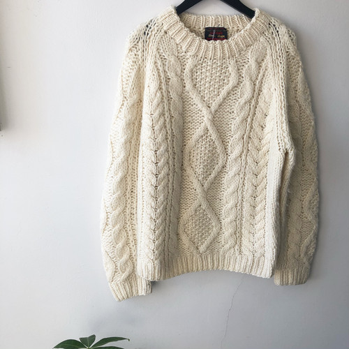 vintage wool cable knit