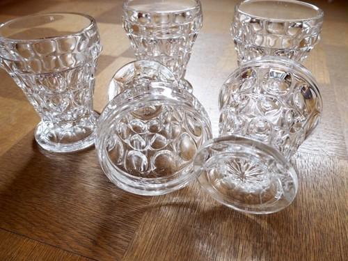 ガラス足付きタンブラー :昭和レトロ