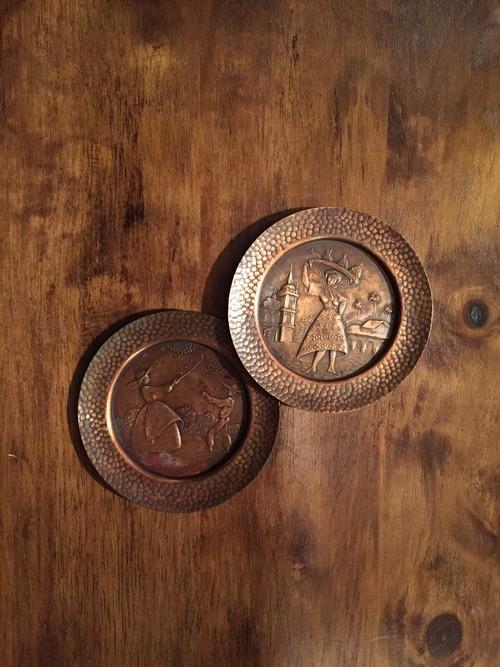 銅のコースターセット