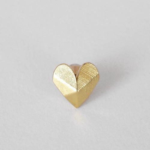 Heart-Shaped stud earring - L/シングルピアス