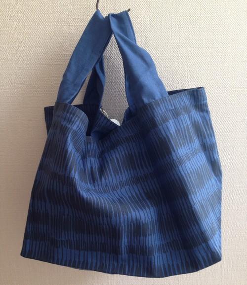 四角い底のバッグ-blue02