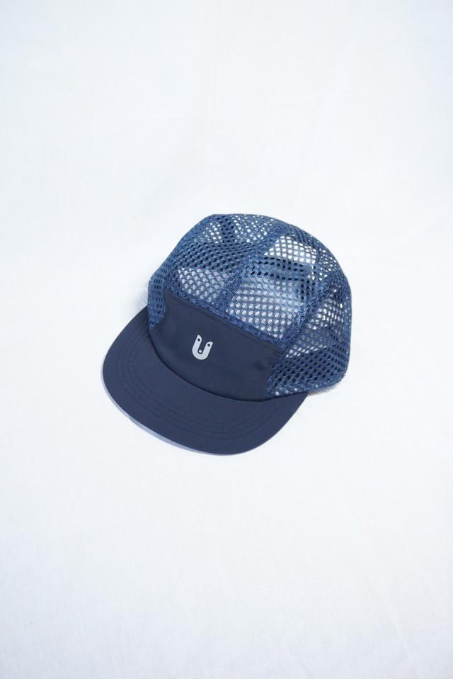 Sato Synthetic Mesh Cap: Color Navy