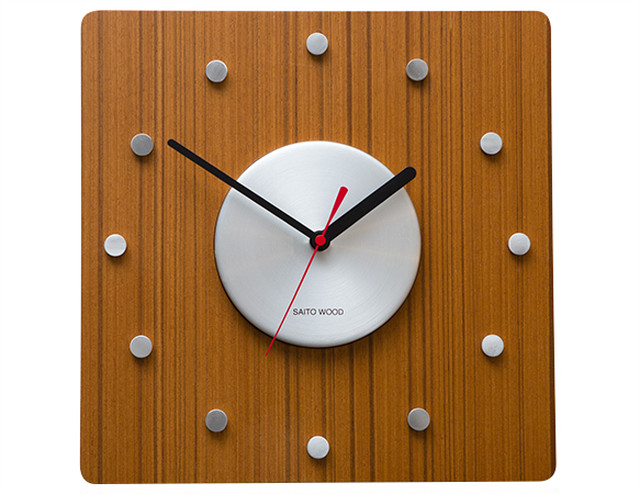 SAITO WOOD WALL CLOCK CL-01T