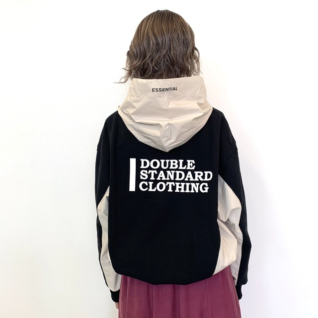 DOUBLE STANDARD CLOTHING  ESSENTIAL (ダブルスタンダードクロージング エッセンシャル) 裏毛ドッキングパーカー 2508020204
