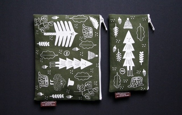 CBB Canvas Pouch L 01_Space travel / 01_Forest