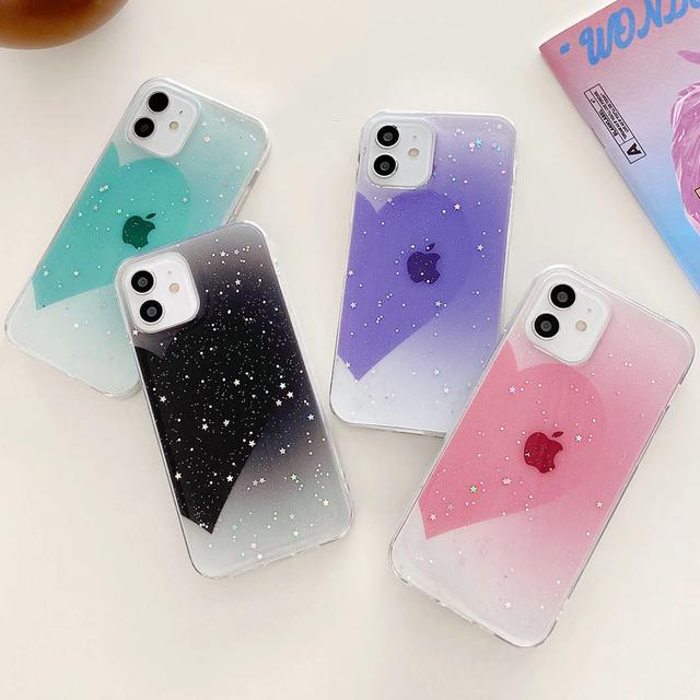 Glitter backgroundheart iphone case