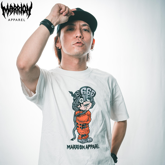 【Cotton100%】MARRION-KUN666  TEE (white)