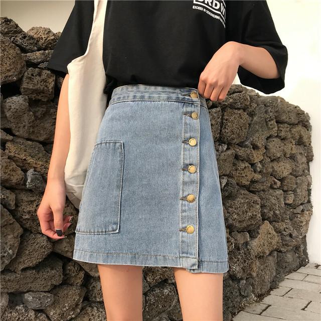 デニム ミニスカート風パンツ 短パン デニムスカート SHQ282101