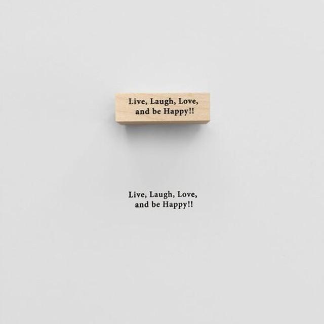 スタンプ 【KNOOPWORKS】 Live Laugh Love and be happy (生きて笑って、愛して、幸せになろう)