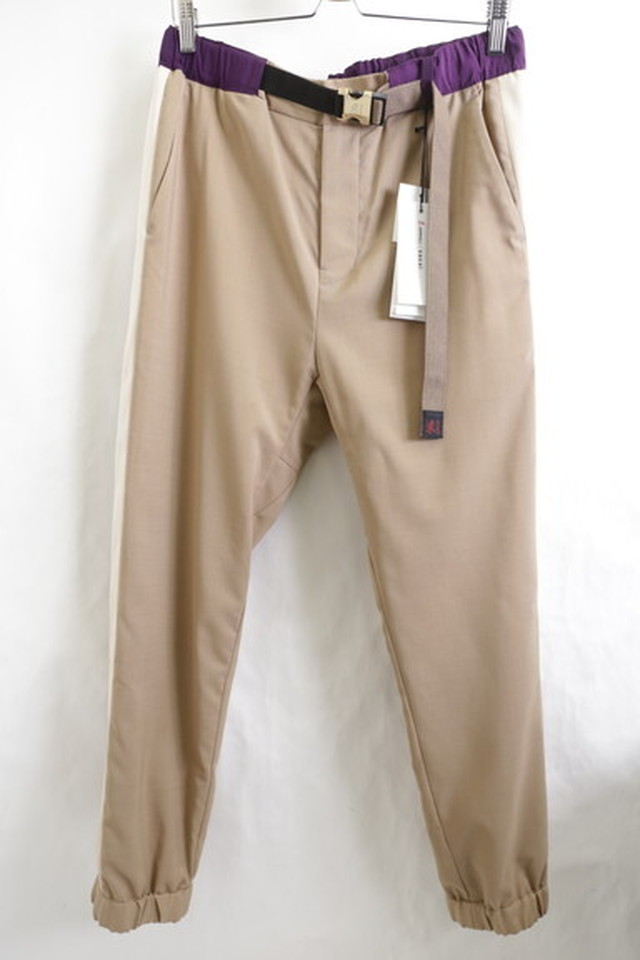 "20SS SACAI × GRAMICCI SWITCHING SIDELINE PANT ""SUIT"" 3 BEIGE 250JF6942"
