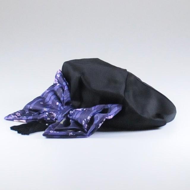 不律矢絣柄ベレー帽/GGD25-R917/BK/F
