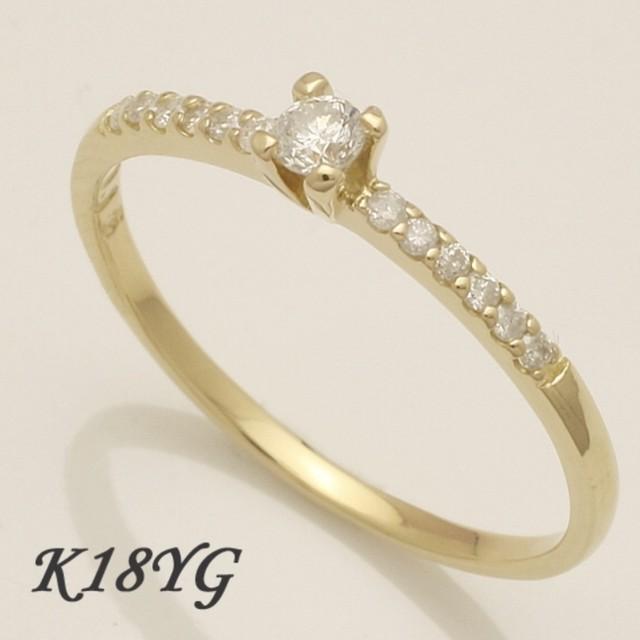 ◆K10WG/YG 0.30ct ダイヤモンド ハーフエタニティ リング
