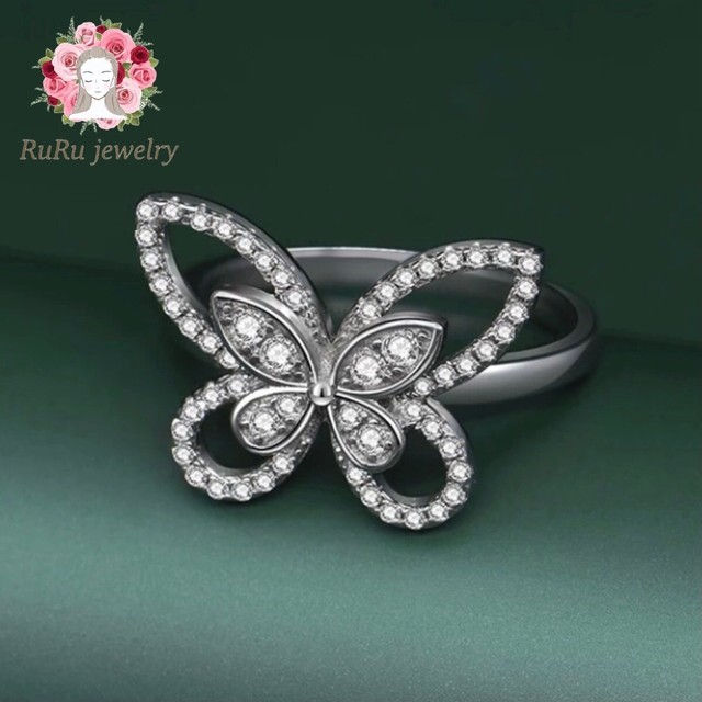 s925 butterfly(ring)