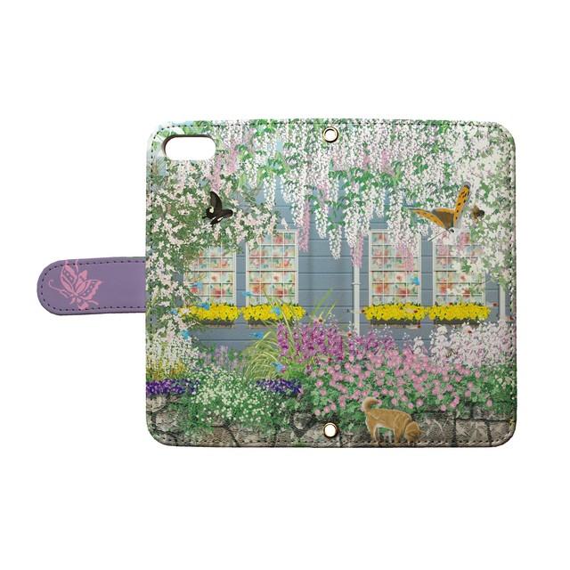 Tetsuji Shirakawa - Spring garden3(手帳型カード入れ付きタイプ)