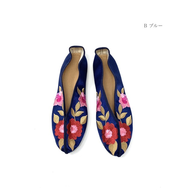 Taiwan China shoes 【台湾刺繍フラットシューズ】