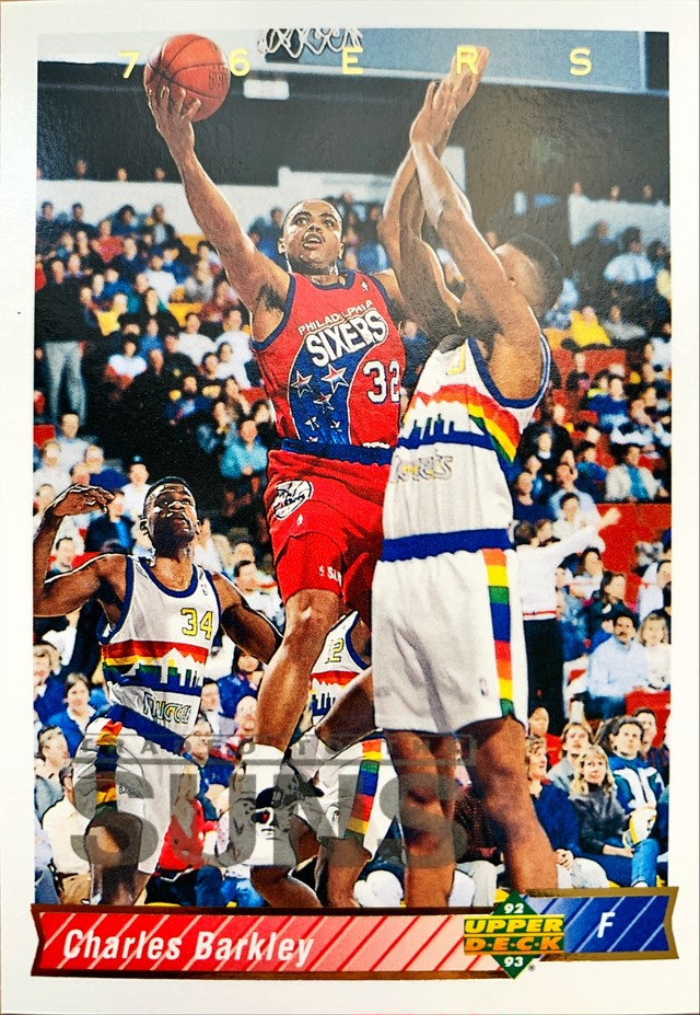 NBAカード 92-93UPPERDECK Charles Bakley #26 76ERS