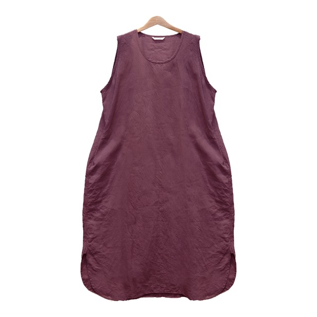 TOUJOURSトゥジュー/STONE WASHED BELGIAN LINEN CLOTH Tank Dress【KM32MD04】