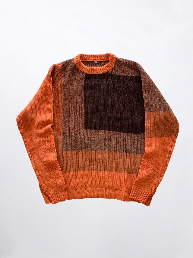 KHOKI NEP OVERDYE KNIT Orange 20AW-K-01-O