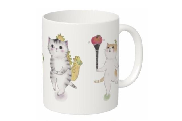 木管猫のマグカップ