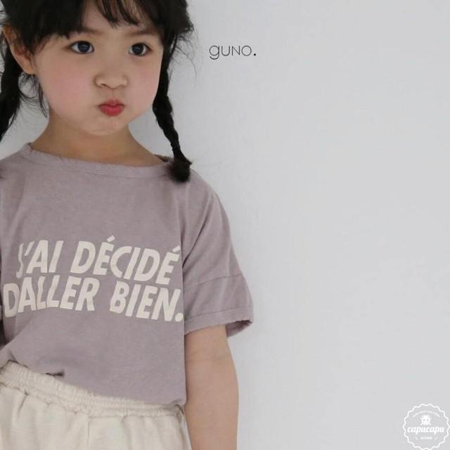 «予約» guno decide T 3colors レタリングTシャツ