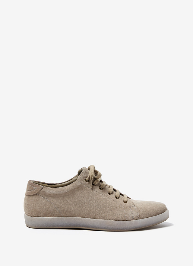 SUEDE SNEAKERS WITH RUBBER SOLE