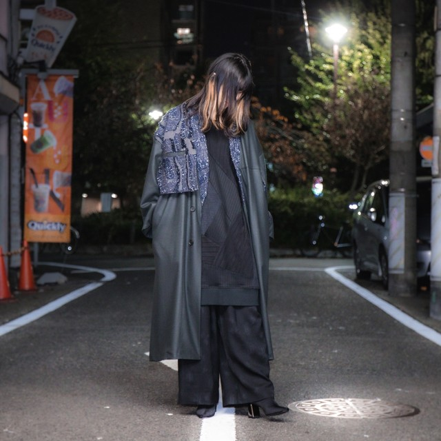 Haori Coat(dark green/inbi blue)