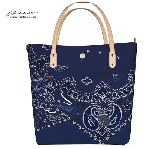 ◆受注生産◆デザイントートバッグ「猫バンダナ」2020来春新柄