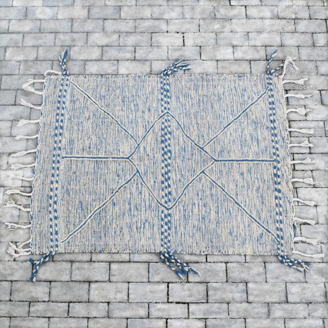"""モロッコラグ・ザナフィ/ """"137cm×105cm"""" ブルー"""