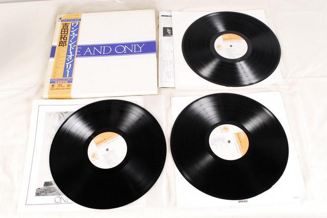 8695 帯付 LP 3枚組ボックス 吉田拓郎 ワン・アンド・オンリー レコード