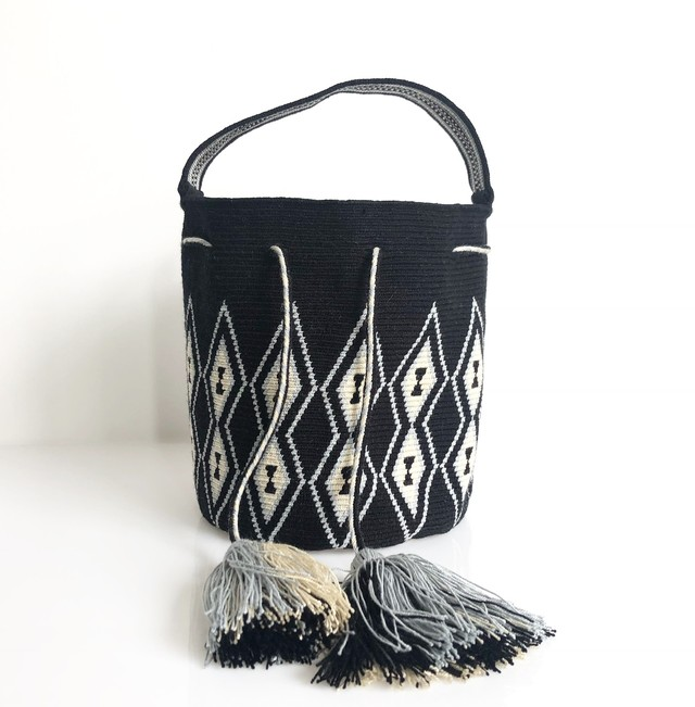 ワユーバッグ(Wayuu bag) Basic line Mini Tote Square