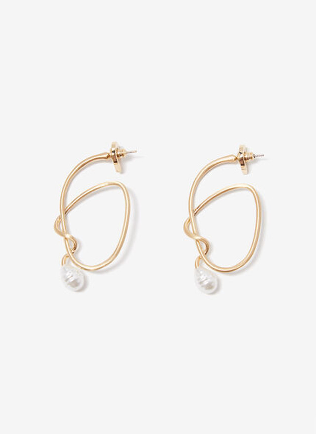 ENTANGLED EARRINGS WITH FAUX PEARL