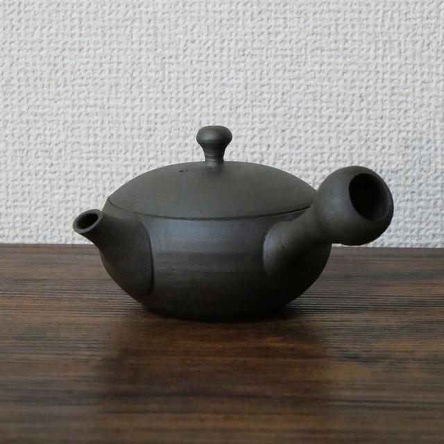【 ハイグレード急須 】澤田さんのモダン急須 / 常滑焼 陶製茶こし 170ml  黒グレー1人用 日本製 きつさこ仕様