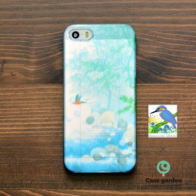 【限定色】アイフォンse ケース クリア iPhoneSE クリアケース キラキラ かわいい 川霧/Masayoshi Mizuho×ケースガーデン