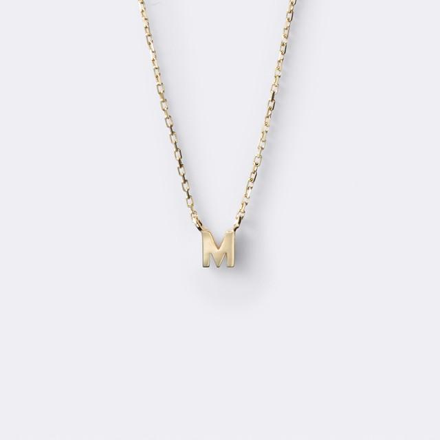 Initial Necklace K10YG(イニシャルネックレス K10イエローゴールド)