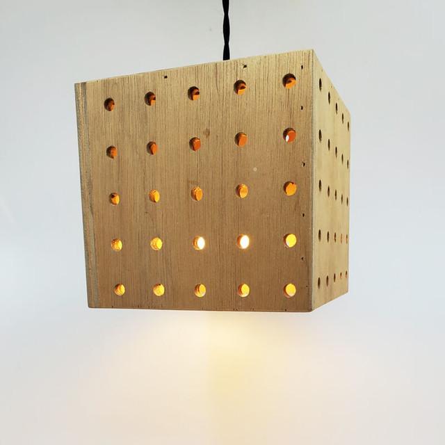 木製BOX型ペンダントライト